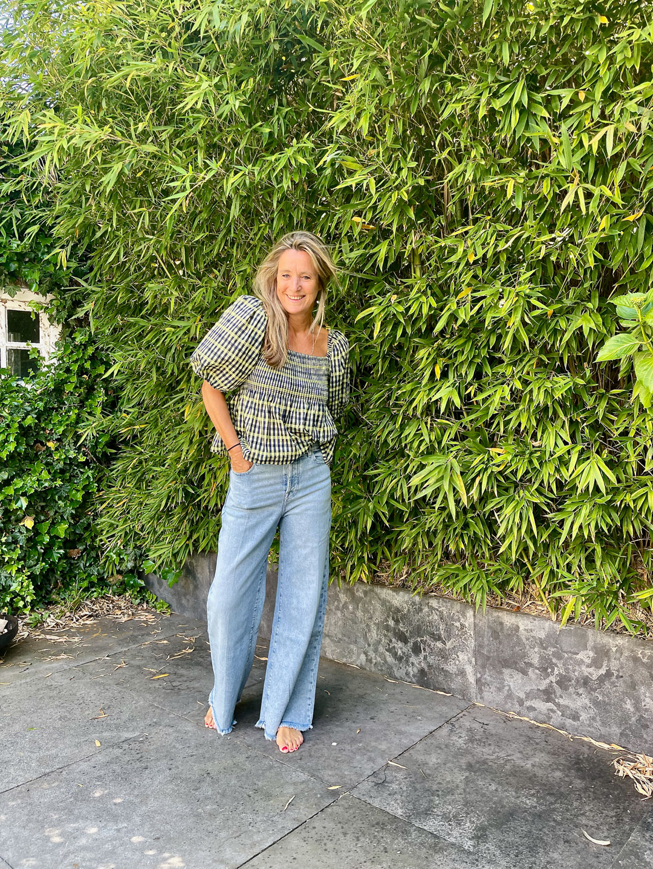 Baum und Pferdgarten Mlyssa Top & 7 For All Mankind Zoey Looker Irregular Hem