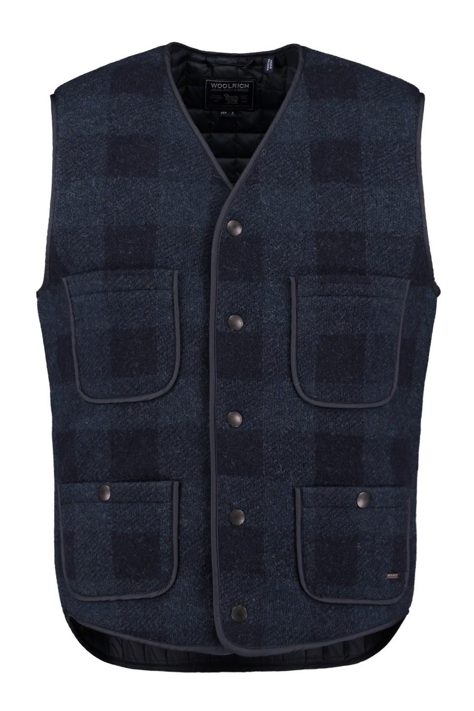 Woolrich Rail Road Vest in Blue Buffalo - WOGIL0099 BW01 3982
