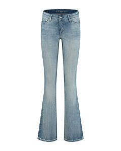 Denham Jeans Farrah BLGRFB Golden Rivets Flare Jeans 02-21-02-11-003
