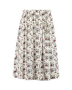 Ganni Printed Crepe Skirt Egret - F6122 6248 135