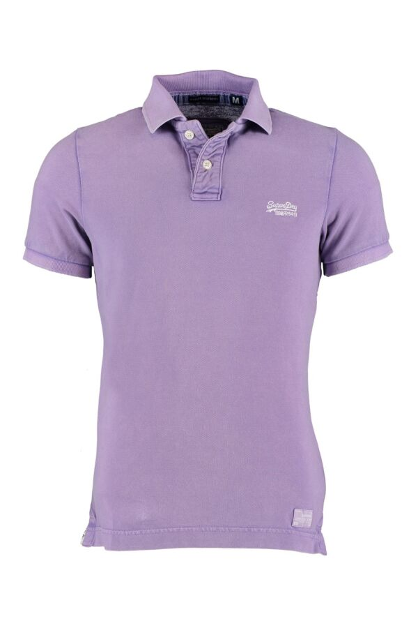 Superdry Vintage Destroyed SS Polo in Real Berry - MSPIT042F1 DQV