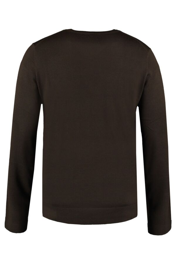 Filippa K Fine Merino V-Neck in Ebony - 2-9-17523 611600