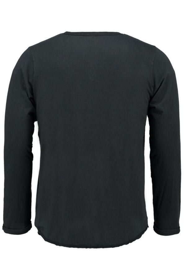 Bowery NYC Heren T-Shirt Longsleeve in Pirate Black - BWTMB445