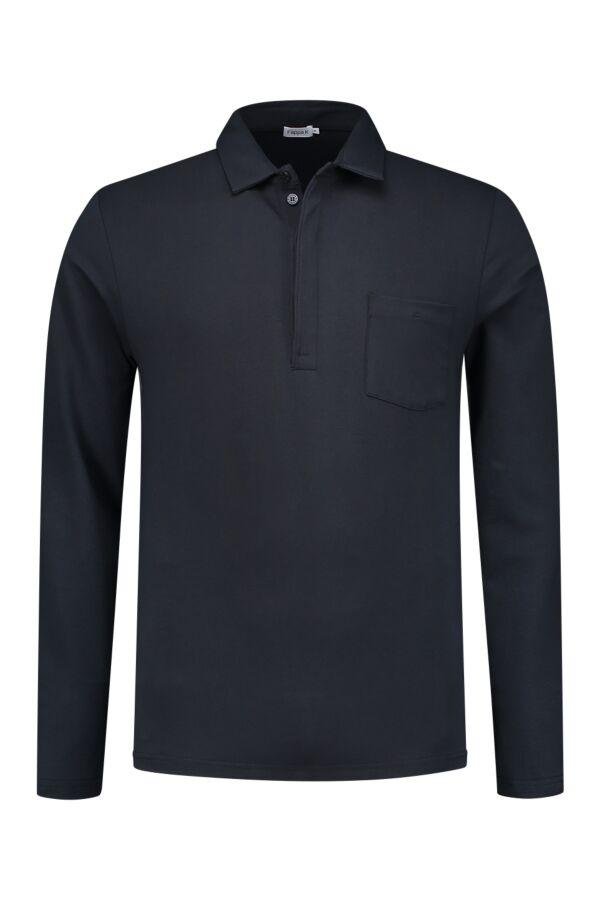 Filippa K Soft Lycra Poloshirt in Navy - 19235 2830
