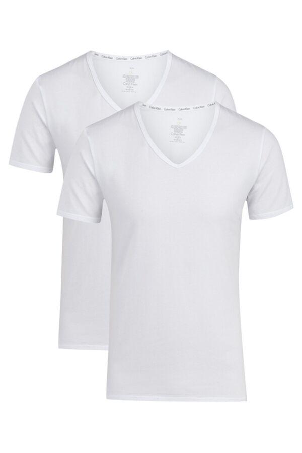 Calvin Klein Underwear 2-pack S/S V-Neck in White - NB1089A-100