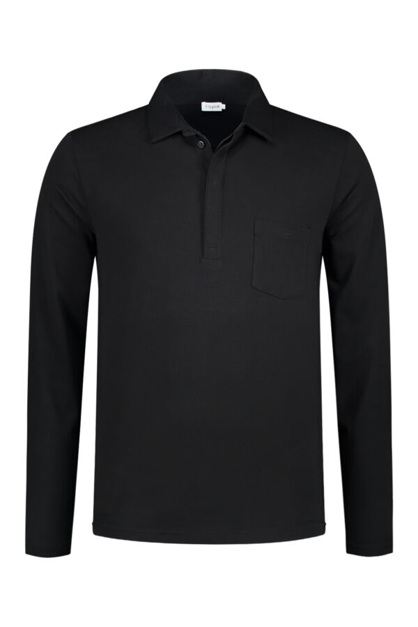 Filippa K Soft Lycra Poloshirt in Black - 19235 1433