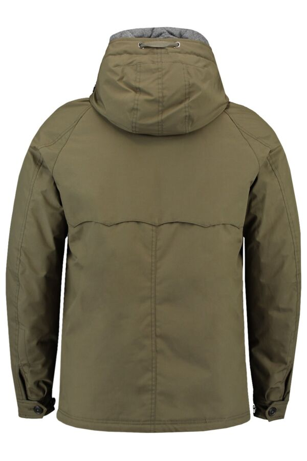 Baracuta G4 Padded Hood Barapel Jacket in Military Green - 01BRMOW0106FBA01 6004