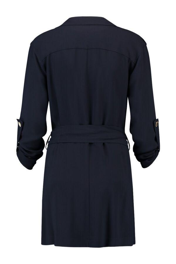 Patrizia Pepe Colbert Trench 2S1024 Aj80 Dress Blue