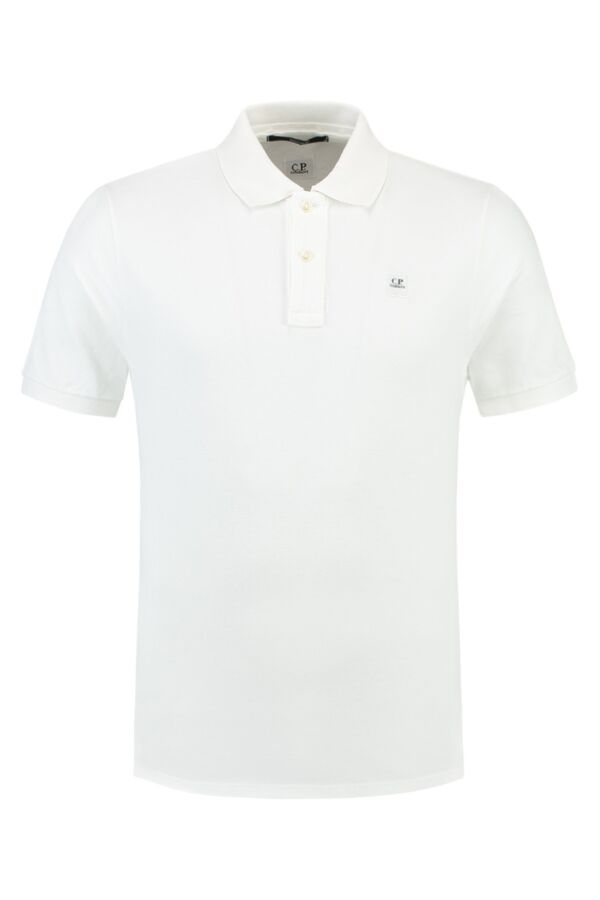 C.P. Company Polo in Wit - 16SCPUT02034 A01672 101