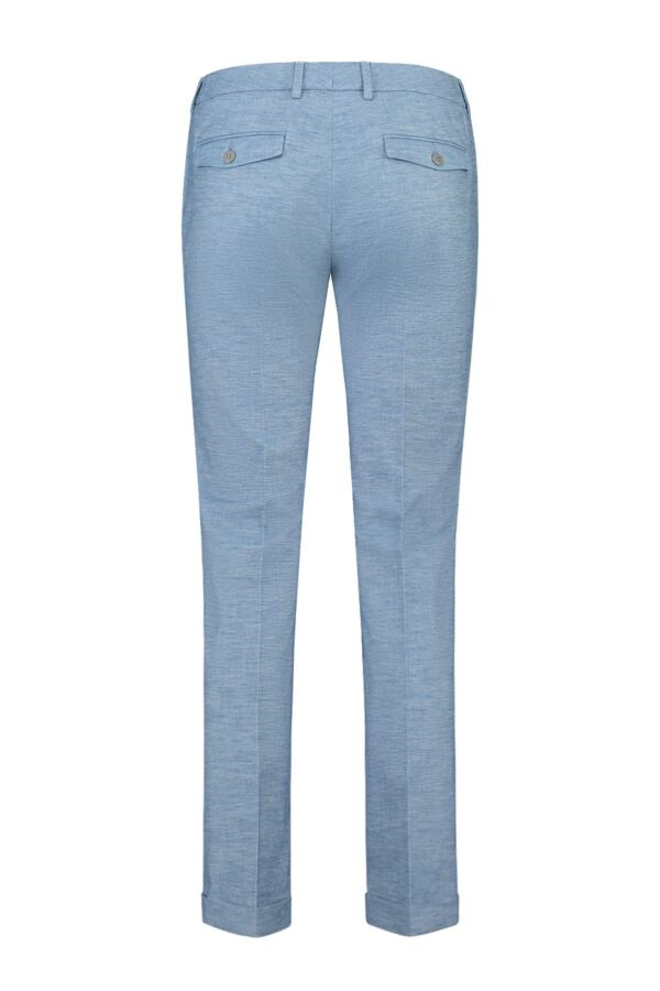 Incotex Pantalon dames in Licht Blauw 171568 D6168