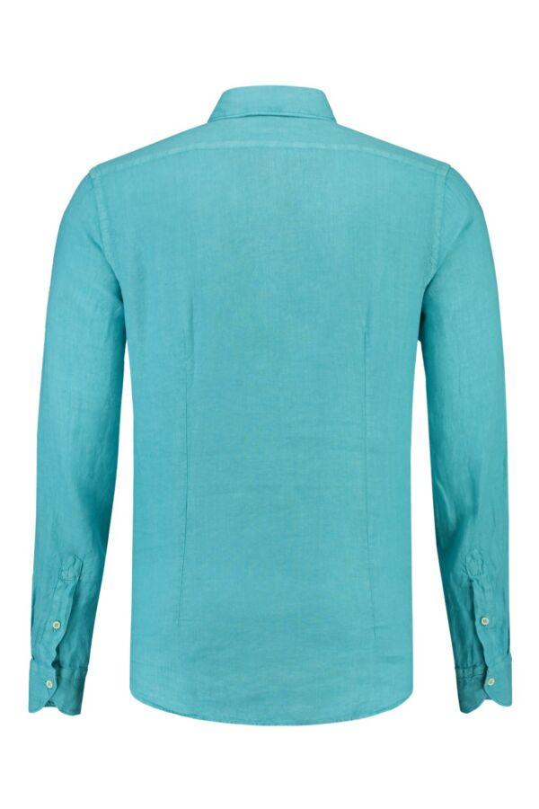 Bloom Fashion Linnen Shirt in Turquoise - 722ML 009