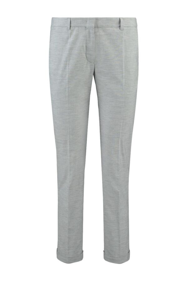 Incotex Pantalon Dames Grijs Melange Katoen stretch