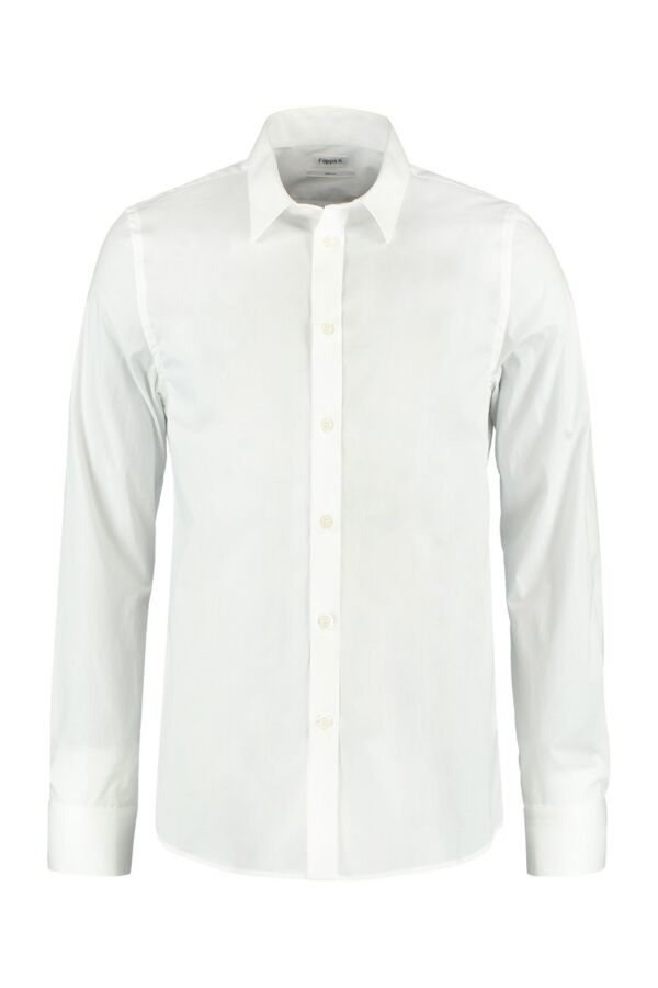 Filippa K M. Paul Stretch Shirt in White - 22844 1009