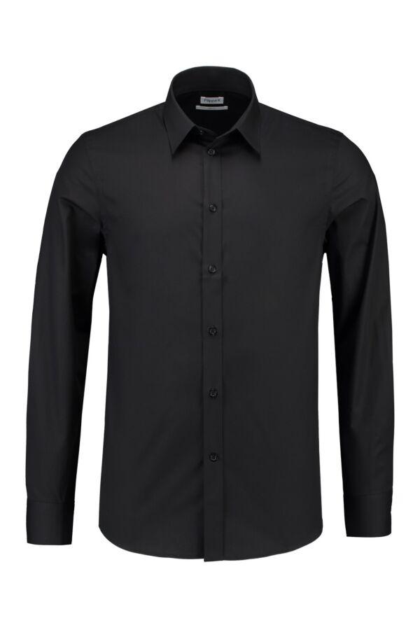 Filippa K M. Paul Stretch Shirt in Black - 22844 1433