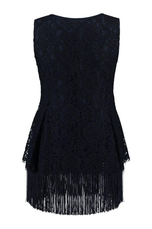 Patrizia Pepe Top Franje 2C0984 Dress Blue