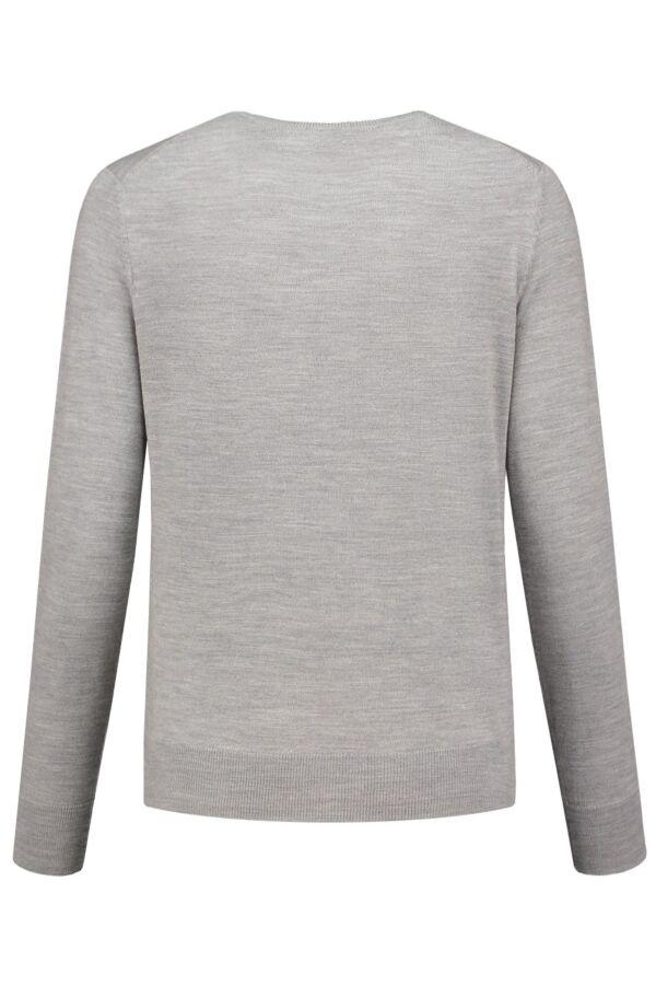 Filippa K Merino short Cardi 17836 Light Grey