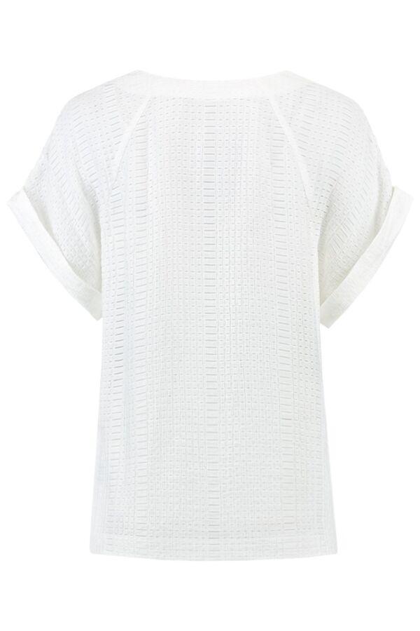 Filippa K Structure Blouse in White - 22961 1009