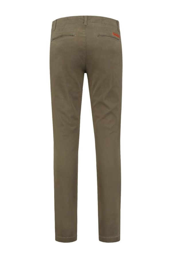 Knowledge Cotton Apparel Pistol Joe Stretch Chino in Burned Olive - 70072 1068