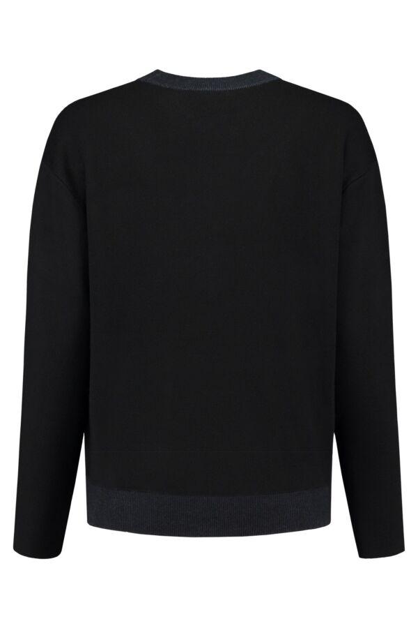 Filippa K Bonded Sweat Pullover in Black/Grape - 23154 6931
