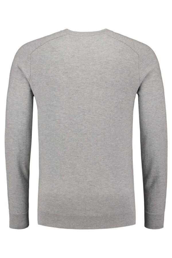 Filippa K Cotton Merino Sweater in Light Grey - 19980 1451