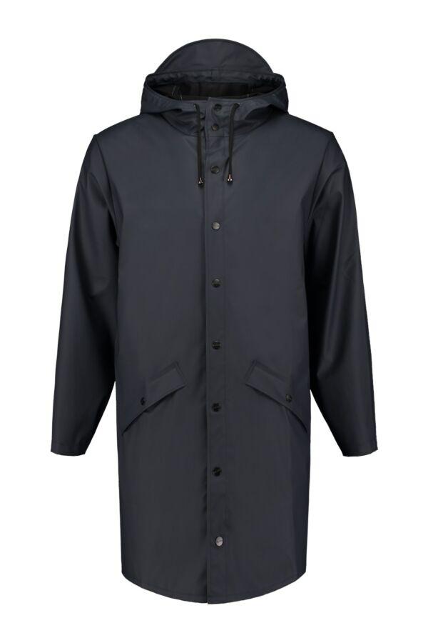 Rains Heren Jacket 1202 Long Jacket Donkerblauw
