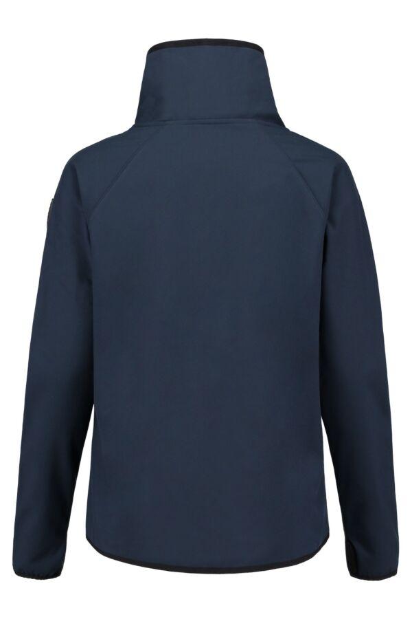 Blauer Softshell Jack in Donkerblauw - 16WBLDF01404 004296 888