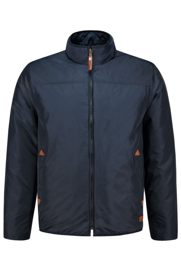 Knowledge Cotton Apparel Jacket Reversible in Total Eclipse - 92035 1001
