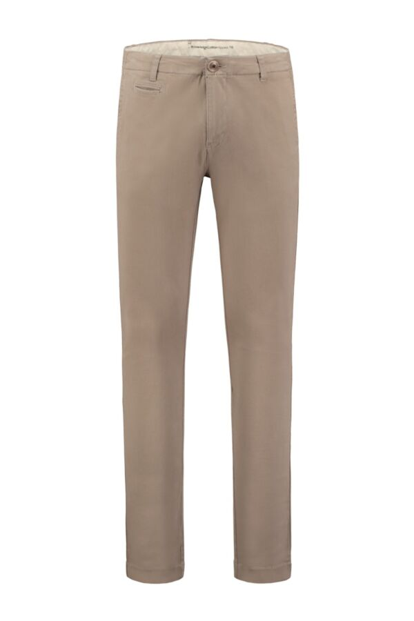 Knowledge Cotton Apparel Pistol Joe Stretch Chino in Greige - 70072 1165