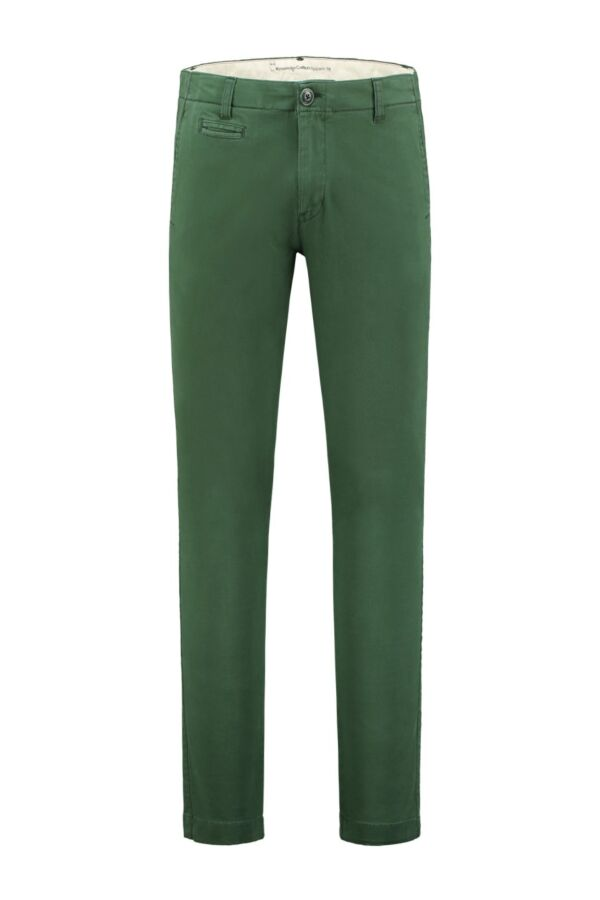 Knowledge Cotton Apparel Pistol Joe Stretch Chino Greener Pasture - 70072 1201
