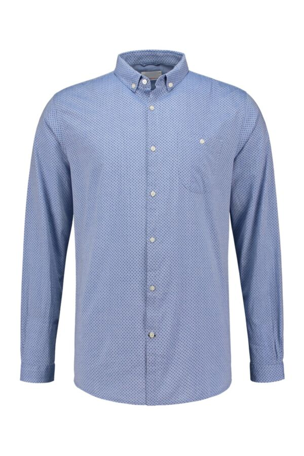 Knowledge Cotton Apparel Shirt All Over Dot Print Limoges - 90583 1065