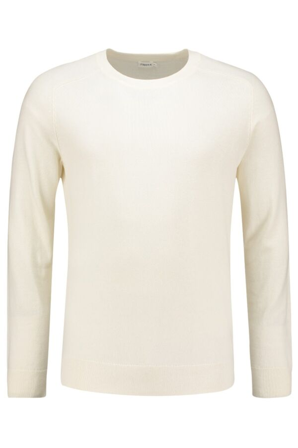 Filippa K Cotton Merino Sweater Ecru - 19980 6915