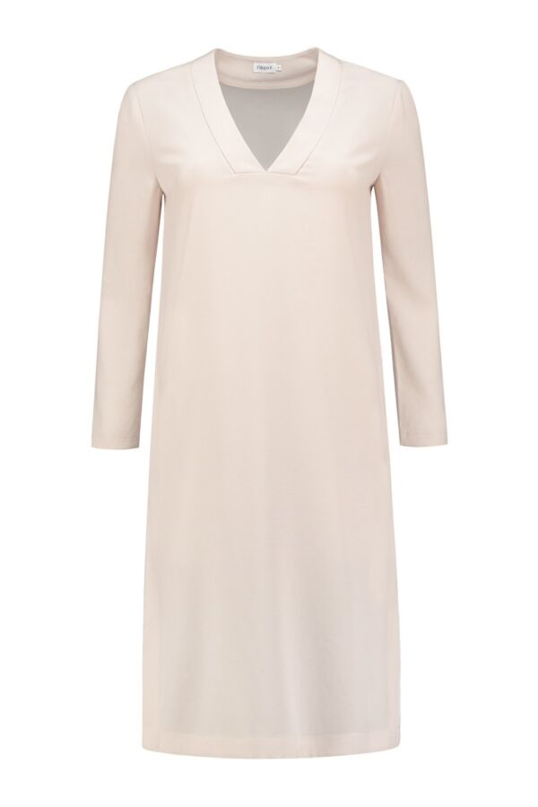 Filippa K Deep V-Neck Dress in Chiffon - 24088 7075