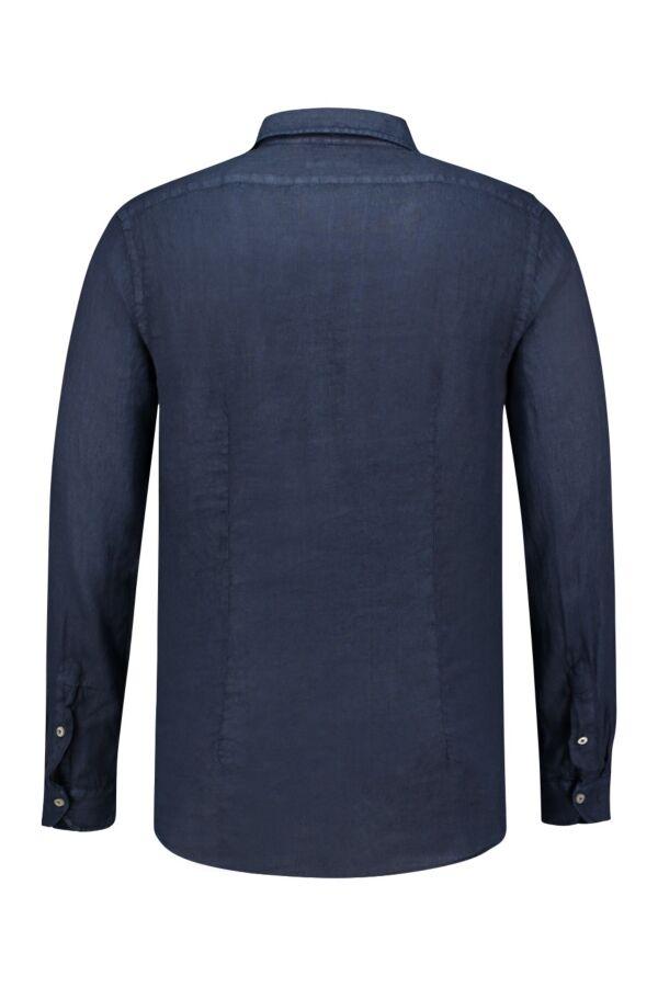 Bloom Fashion Linnen Shirt Donkerblauw - 748ML 81122 018