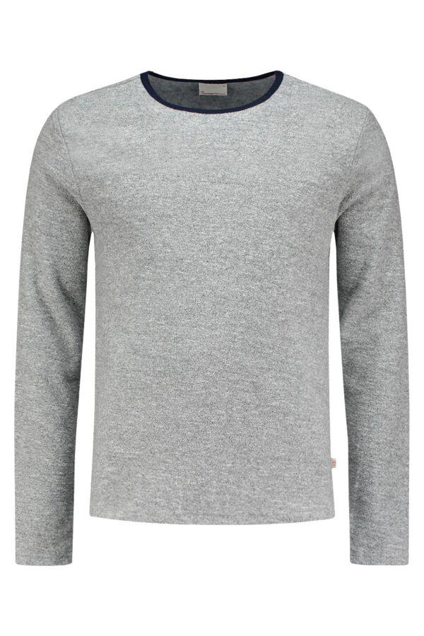 Knowledge Cotton Apparel Terry Sweatshirt in Peacoat - 30340 1091