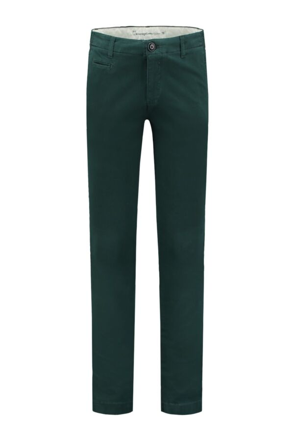 Knowledge Cotton Apparel Pistol Joe Stretch Chino Green Gables - 70072 1207
