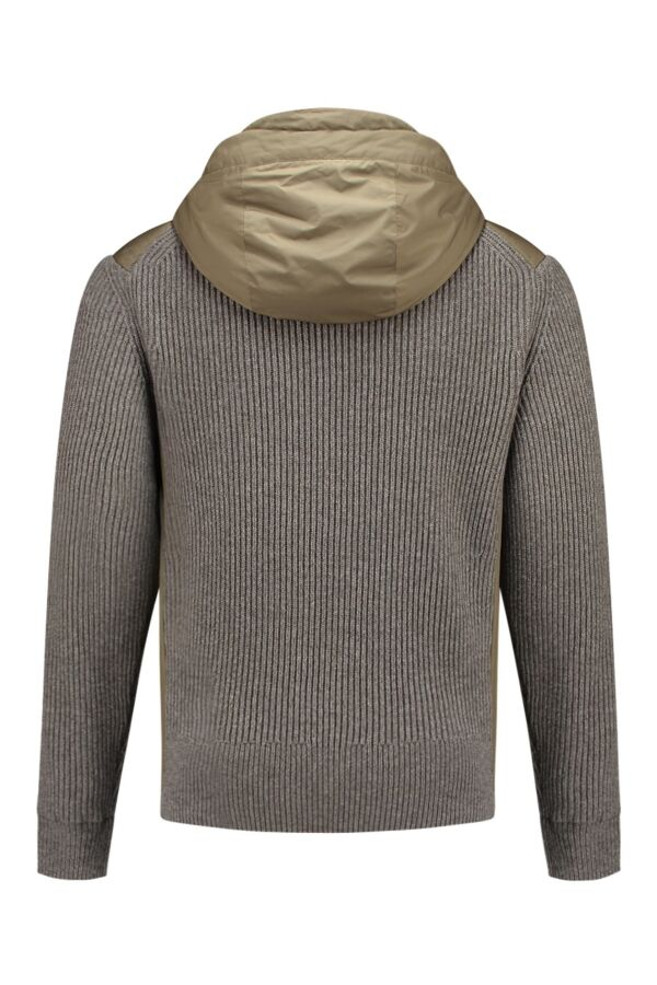 C.P. Company Knit Jacket Wadding Padding in Army Green - 03CMKN034A004306A 322