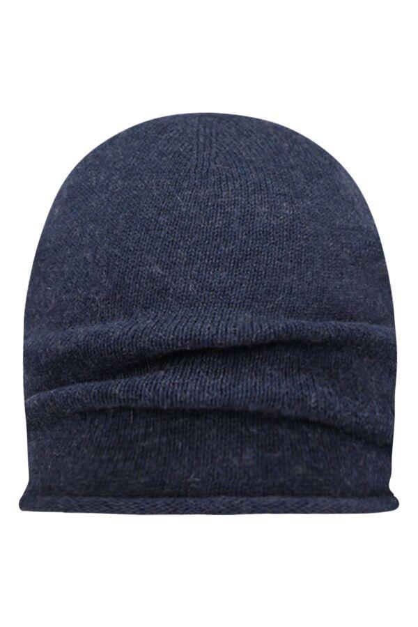Knowledge Cotton Apparel Single Knit Cotton Cashmere Hat Total Eclipse - 82178