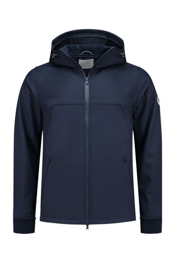 Knowledge Cotton Apparel Softshell Jacket Total Eclipse - 92262 1001
