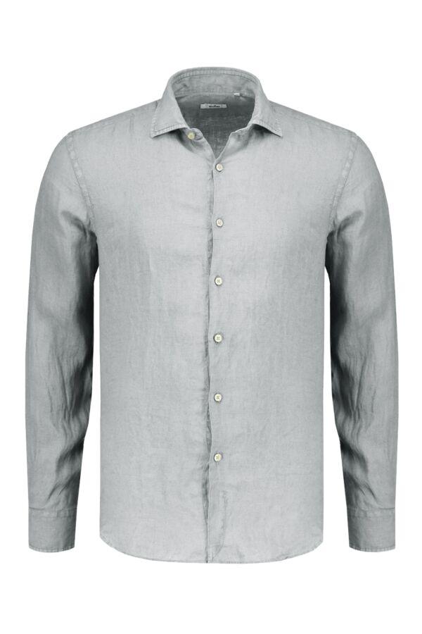 Bloom Fashion Linnen Shirt Lichtgrijs - 748ML 21125 006