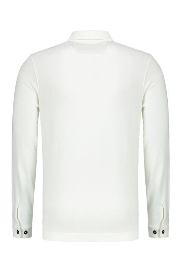 C.P. Company Sweatshirt Polo Collar Tapioca White - 04CMSS189A 003649G 112