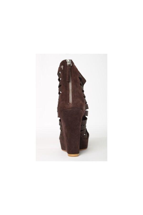 Cycle Shoes schoen met bruin suede sleehak