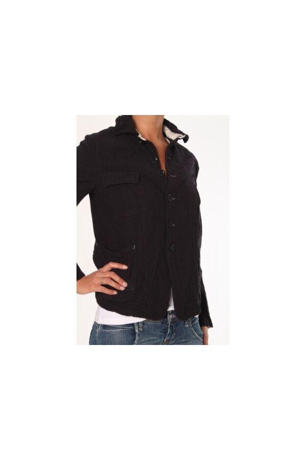 Bsbee Fox Jacket Woman Rub Wool
