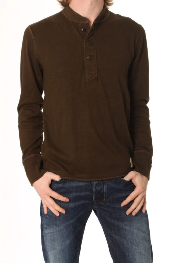Polo Jeans LS Hudson Henley - Longsleeve Grandad
