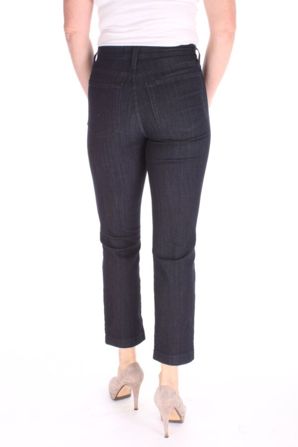 Jeans Ankle Uni Blue Black Denim 7/8 - Straight Fit -
