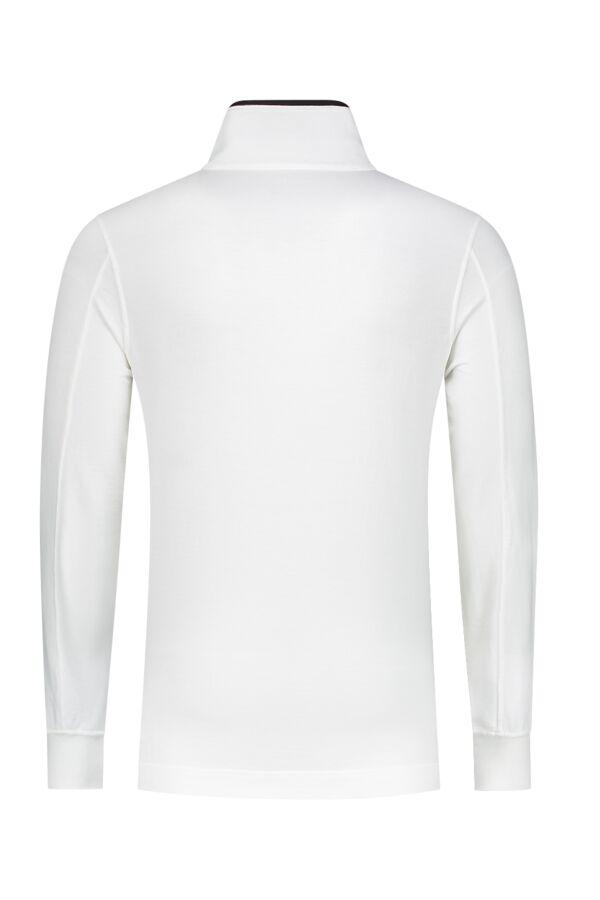 C.P. Company Sweatshirt Polo Collar Tapioca White - 04CMSS112A 002246G 112