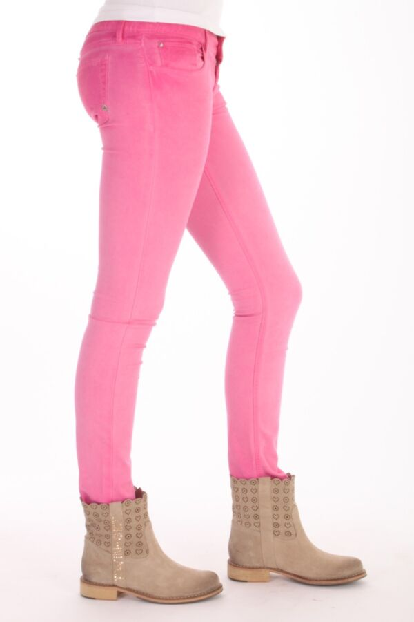 Colored Denim Cycle Jeans  WPT357 C004 T595 Fuchsia Rose