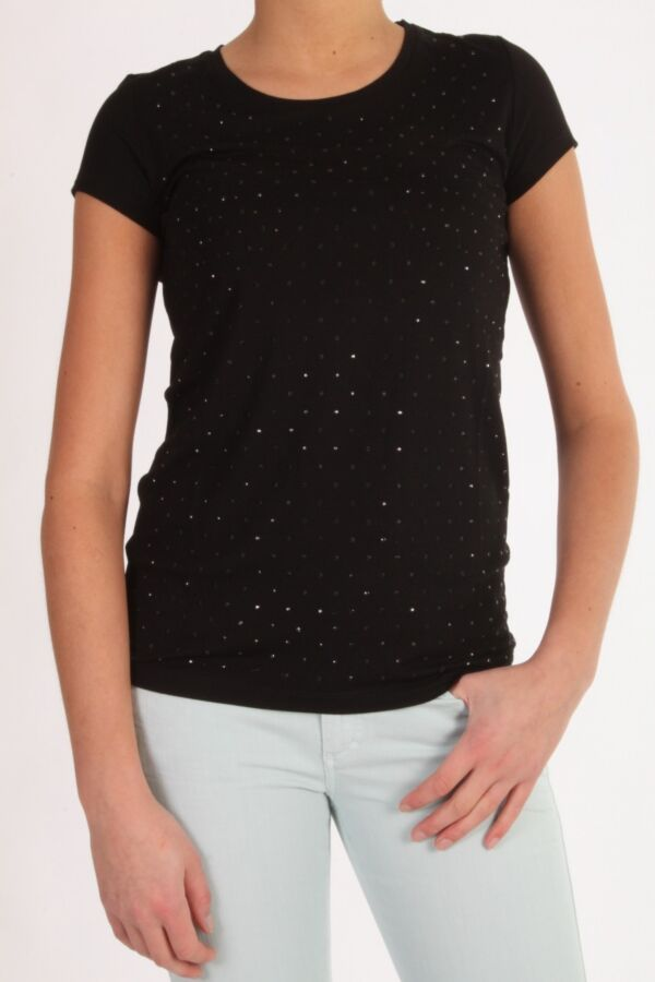 T-Shirt Patrizia Pepe 4M0332 zwart