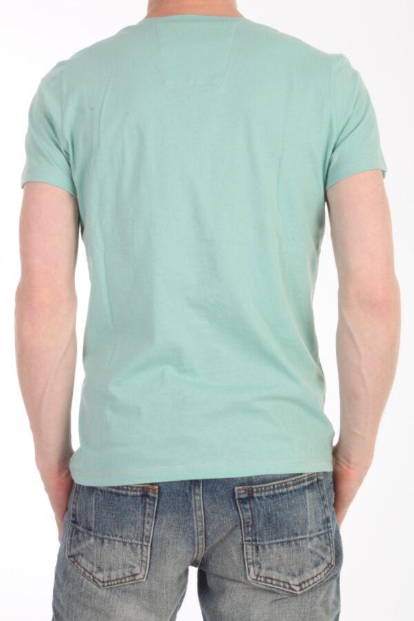 V-hals t-shirt met korte mouw van Closed in de kleur soft mint C85575-42W-C9