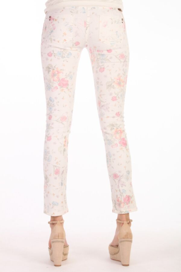 Print Jeans Patrizia Pepe 2J1024 AQ85 Flower Bianco