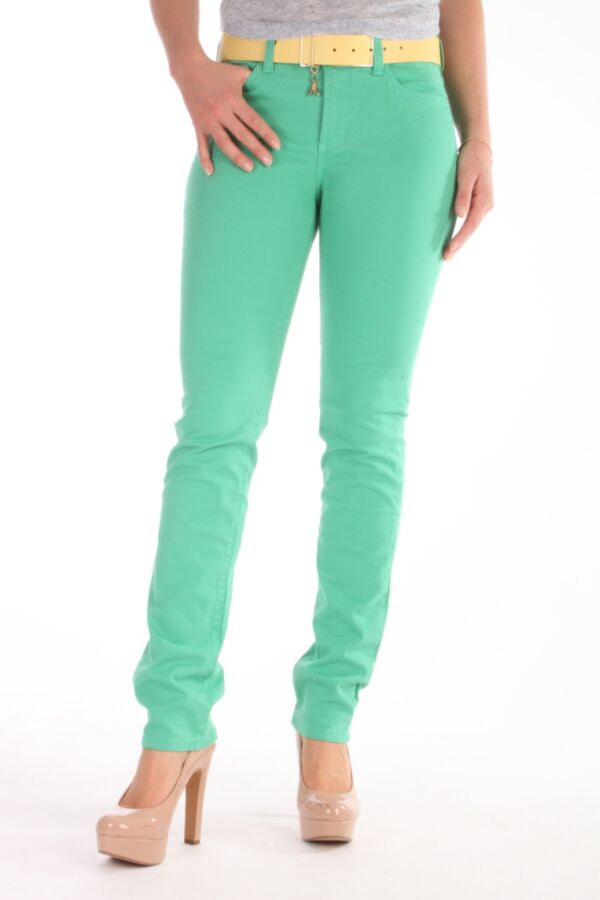 Skinny colored denim van Not Your Daughters Jeans in Jade Stone 30965DT3166